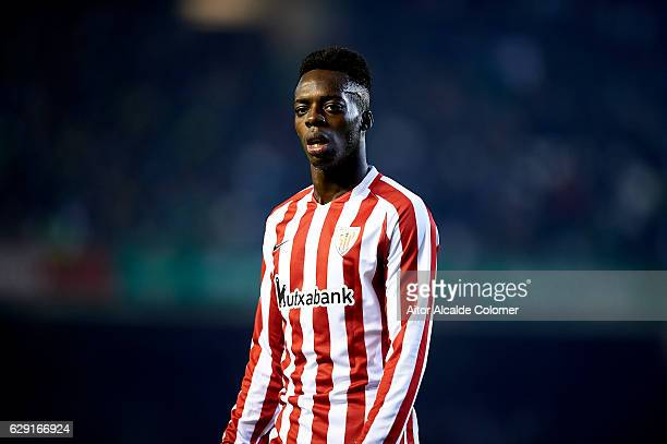 Inaki Williams of Athletic Club looks on during La Liga match between Real Betis Balompie vs Athletic Club at Benito Villamarin Stadium on December...