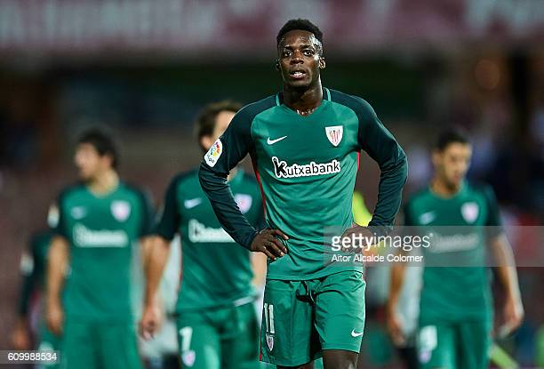 Inaki Williams of Athletic Club looks on during the match between Granada CF vs SD Eibar as part of La Liga at Nuevo los Carmenes Stadium on...