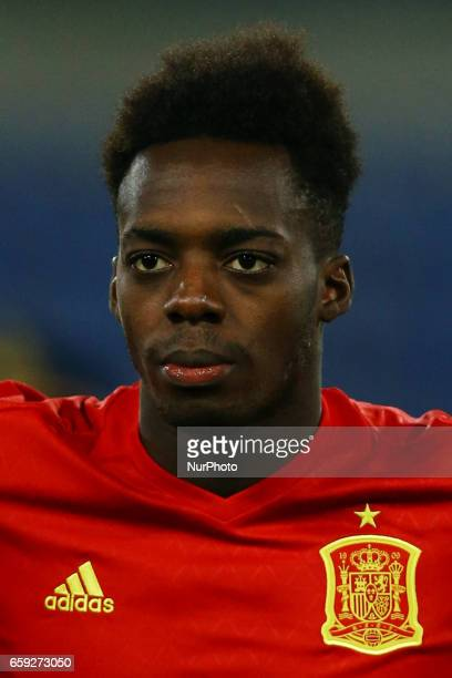 Inaki Williams of Spain at Olimpico Stadium in Rome Italy on March 27 2017