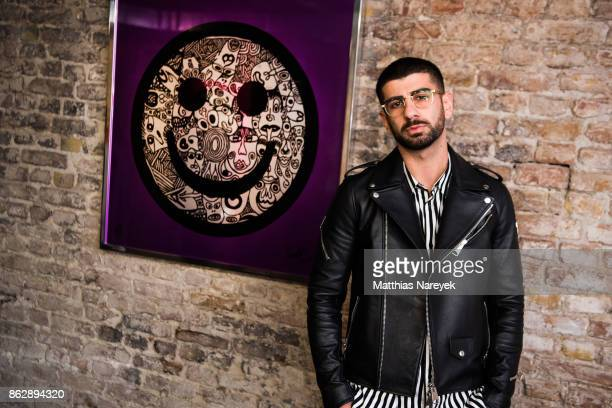 Inan Batman during Romulo's 'Farbenspiel' exhibition opening at Hotel Provocateur on October 18 2017 in Berlin Germany