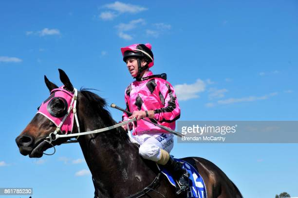 Inastride ridden by Craig Robertson returns to the mounting yard after winning the Greater Shepparton City Council BM58 Handicap at Tatura Racecourse...
