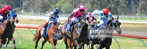 Inastride ridden by Craig Robertson wins the Greater Shepparton City Council BM58 Handicap at Tatura Racecourse on October 16 2017 in Tatura Australia