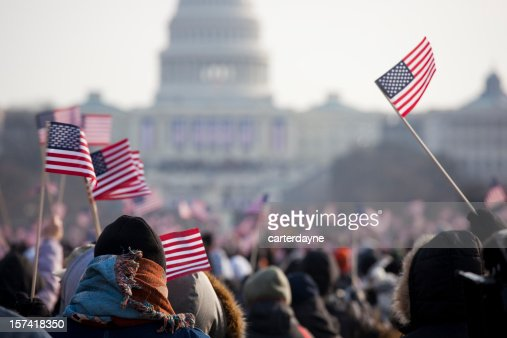 Tag der Amtseinführung Massen von Präsident Barack Obama