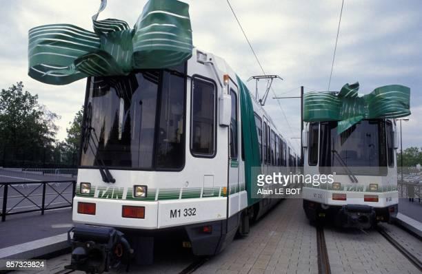 Inauguration de la 2e ligne de tramway le 26 septembre 1992 a Nantes France