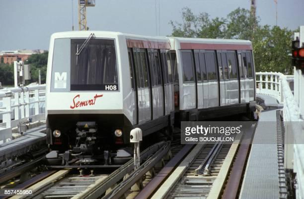 Inauguration d'une premiere ligne de metro en juin 1993 a Toulouse France