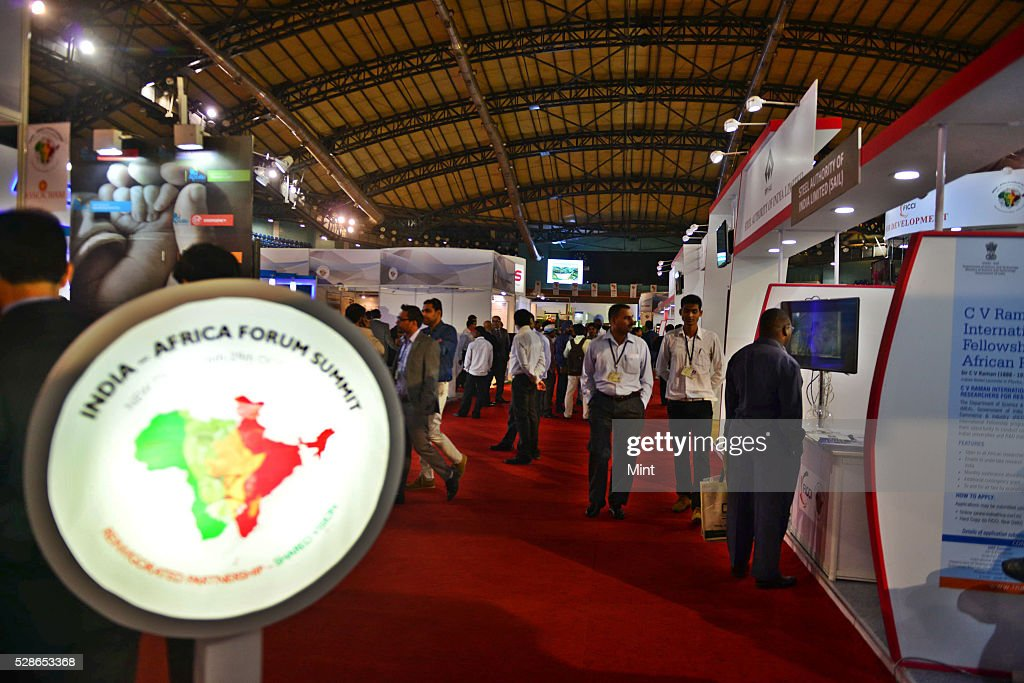 Inauguration of Business Exhibition at Second Day of the 3rd India Africa Forum Summit on October 27, 2015 in New Delhi, India.