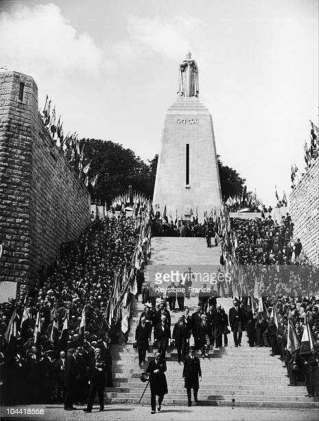 Inauguration Of Douamont Ossuary By The President Albert Lebrun In August 1932