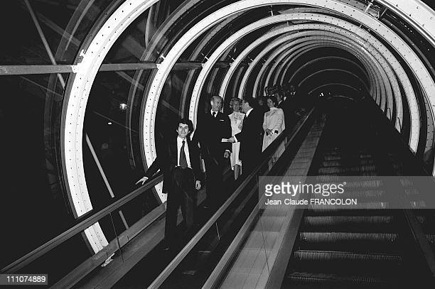 Inauguration of Paris Centre Georges Pompidou in Paris France on January 31st 1977