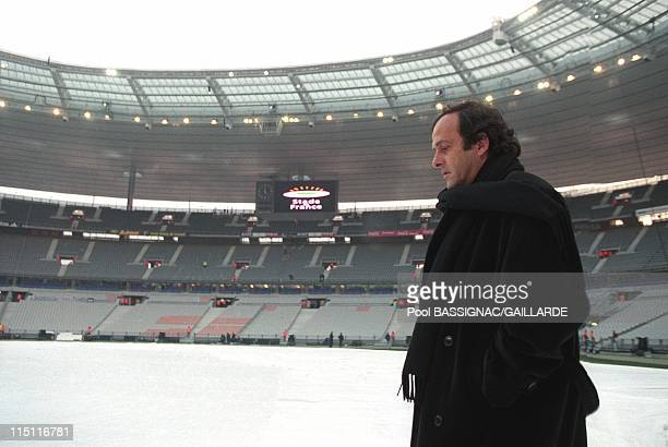 Inauguration of Stade de France in Saint Denis France on January 28 1998 Michel Platini
