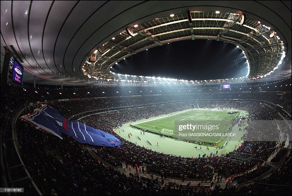 Inauguration of Stade de France in Saint Denis France on January 28 1998