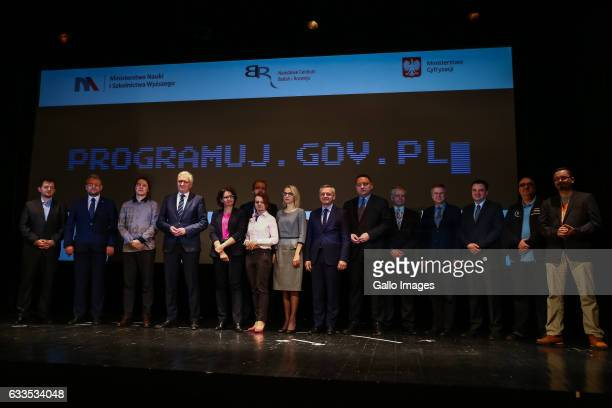 Inauguration of the campaign called programujgovpl on January 31 2017 in Warsaw Poland The campaign is organized by the Ministry of Science and...