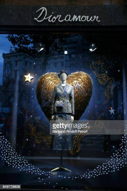 Inauguration of the Dior showcases at Galeries Lafayette for Christian Dior celebrates 70 Years of Creation at the Galeries Lafayette Haussmann on...