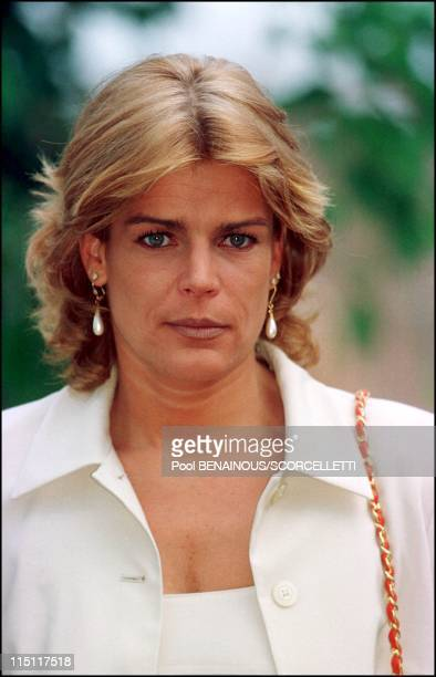 Inauguration of the Grimaldi Forum in Monaco City Monaco on July 20 2000 Stephanie
