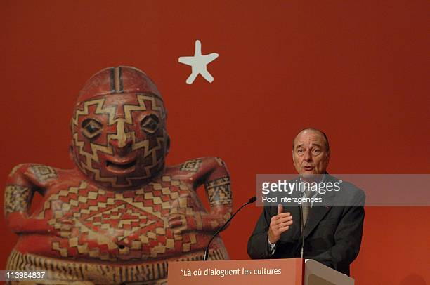 Inauguration of the Quai Branly Museum In France On June 20 2006 President Jacques Chirac inaugurated the Quai Branly museum dedicated to the arts...