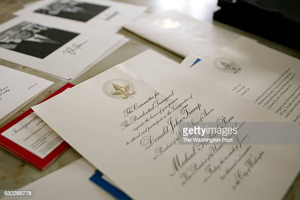 Inauguration tickets and invitations at Ralph Case's home in North Canton Ohio on January 16 2017 Ralph Case has made a name for himself after taking...