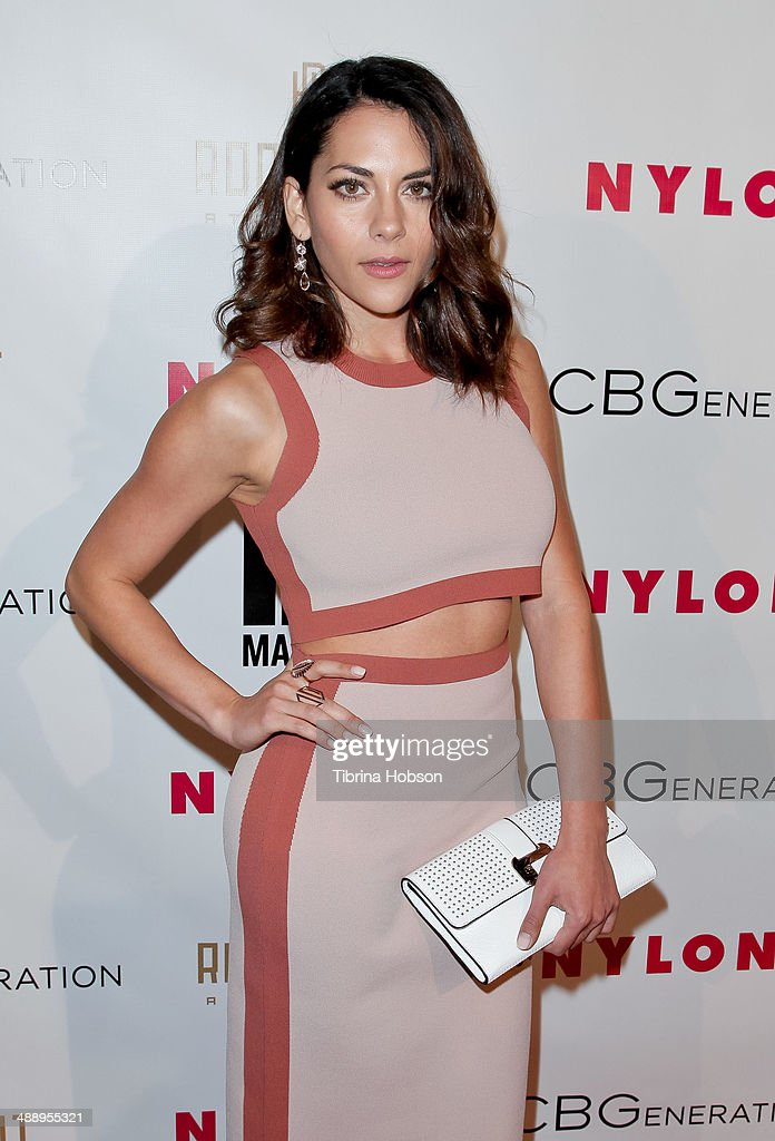 Inbar Lavi attends the Nylon Magazine May young Hollywood issue party at Tropicana Bar at The Hollywood Rooselvelt Hotel on May 8, 2014 in Hollywood, California.