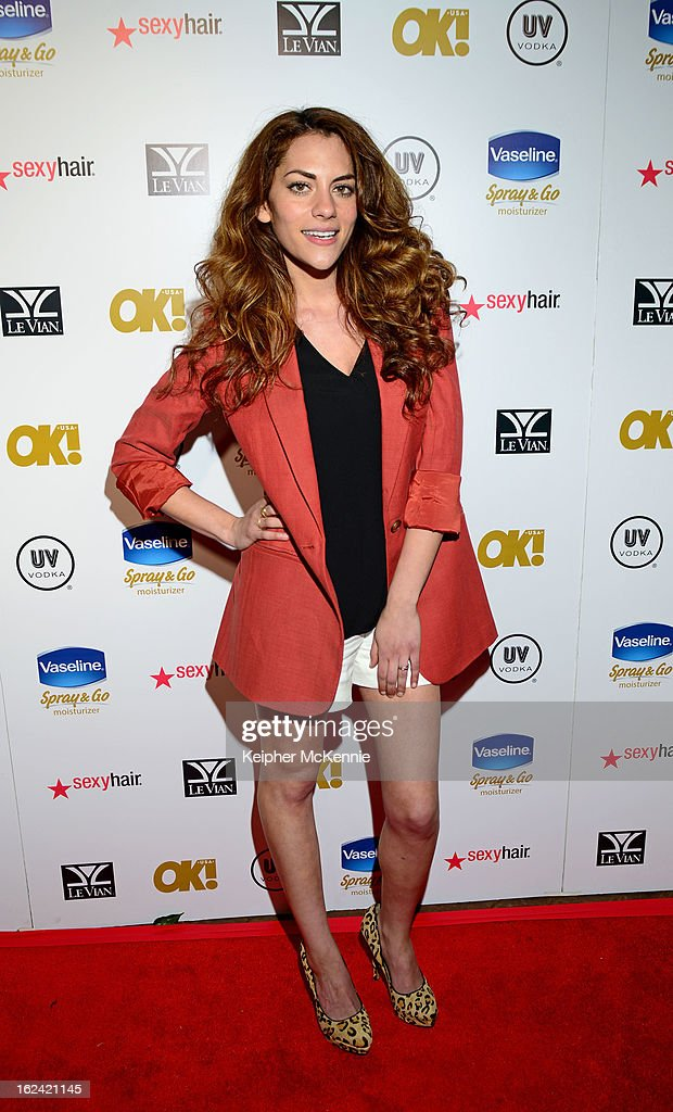 Inbar Lavi steps on the red carpet at OK! Magazine Pre-Oscar Party at The Emerson Theatre on February 22, 2013 in Hollywood, California.