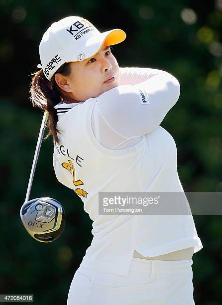 Inbee Park of South Korea hits a shot on the 18th hole during the Final Round of the 2015 Volunteers of America North Texas Shootout Presented by...