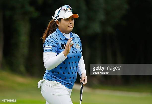 Inbee Park of South Korea makes birdie on the 16th hole during the third round of the Lorena Ochoa Invitational Presented By Banamex at the Club de...