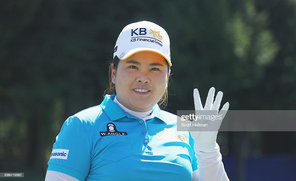 <a gi-track='captionPersonalityLinkClicked' href=/galleries/search?phrase=Inbee+Park&family=editorial&specificpeople=4532692 ng-click='$event.stopPropagation()'>Inbee Park</a> of South Korea poses on the practice range as she attempts to win the event a fourth straight year prior to the start of the KPMG Women's PGA Championship at the Sahalee Country Club on June 6, 2016 in Sammamish, Washington.