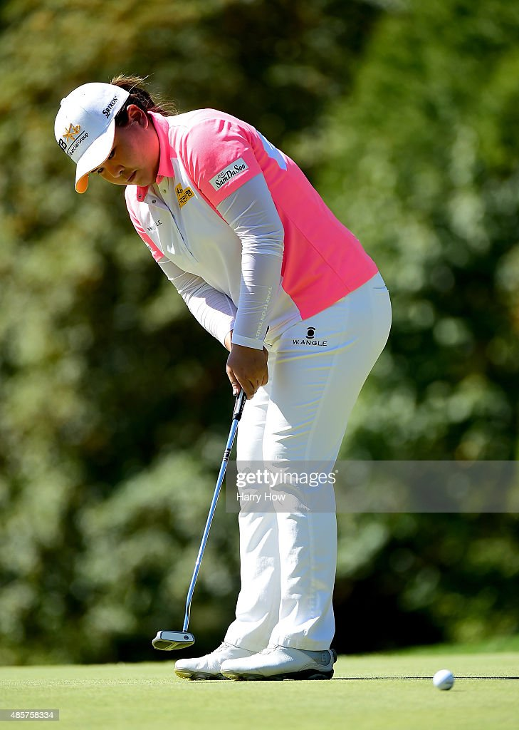 Inbee Park of South Korea putts on the fourth green during the third round of the Canadian Pacific Women's Open at the Vancouver Golf Club on August 22, 2015 in Vancouver, Canada.