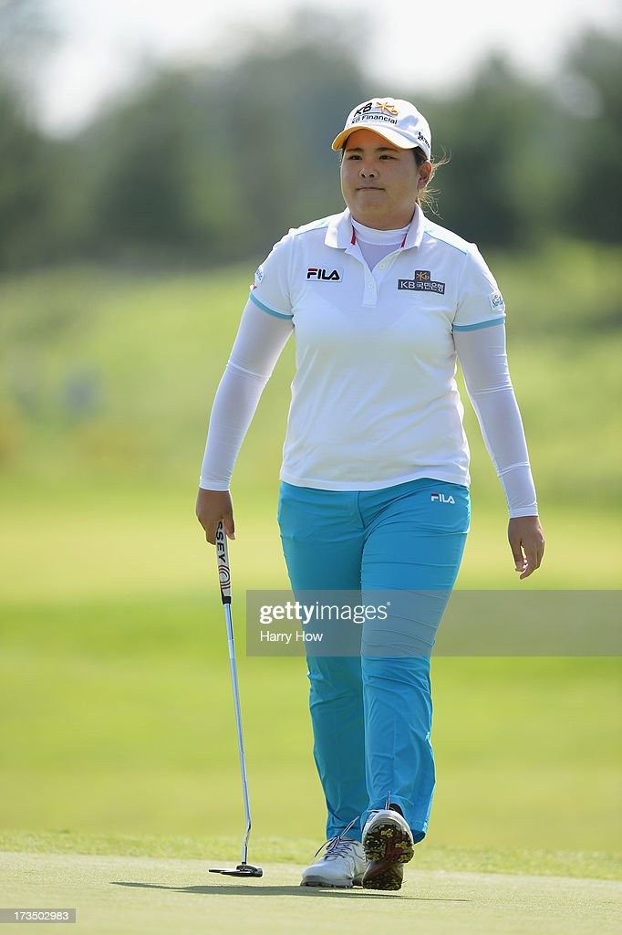 <a gi-track='captionPersonalityLinkClicked' href=/galleries/search?phrase=Inbee+Park&family=editorial&specificpeople=4532692 ng-click='$event.stopPropagation()'>Inbee Park</a> of South Korea smiles as she walks on the 10th green during round one of the Manulife Financial LPGA Classic at the Grey Silo Golf Course on July 11, 2013 in Waterloo, Canada.