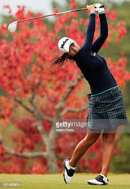 Inbee Park of South Korea tees off during the second round of the Mizuno Classic at Kintetsu Kashikojima Country Club on November 5 2011 in Shima...
