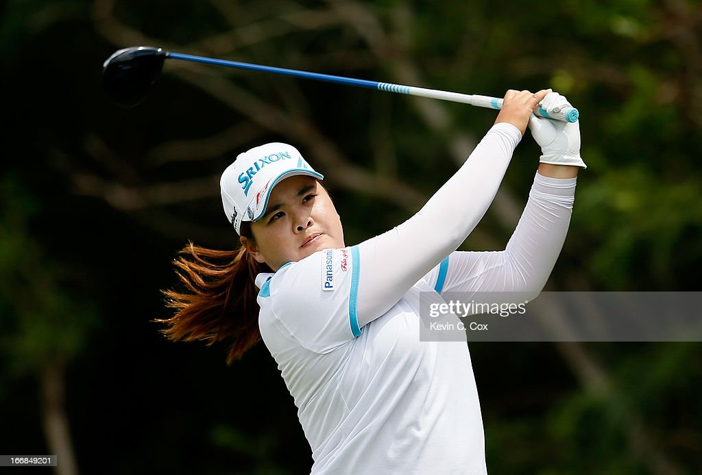 <a gi-track='captionPersonalityLinkClicked' href=/galleries/search?phrase=Inbee+Park&family=editorial&specificpeople=4532692 ng-click='$event.stopPropagation()'>Inbee Park</a> of South Korea tees off the fifth hole during the first round of the LPGA LOTTE Championship Presented by J Golf at the Ko Olina Golf Club on April 17, 2013 in Kapolei, Hawaii.