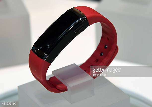 InBody displays the first wearable fitness tracker and body composition analyzer during a press event at the Mandalay Bay Convention Center for the...