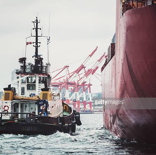 Inbound Container Ship
