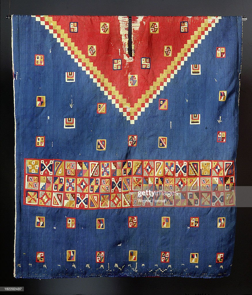 Inca poncho with geometric designs worn by a person of high status Peru Inca 1380 1520 South coast of Peru