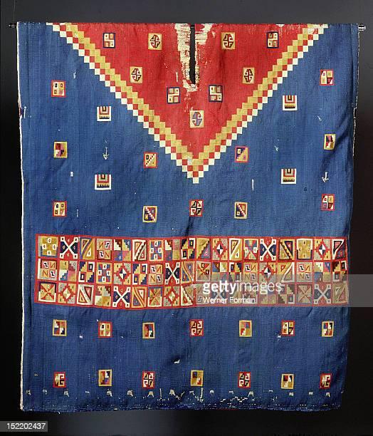 Inca poncho with geometric designs worn by a person of high status Peru Inca 1380 1520 South coast of Peru