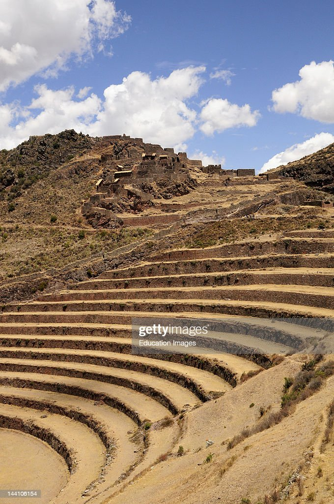 Inca Ruins And Terraces Pisac Peru