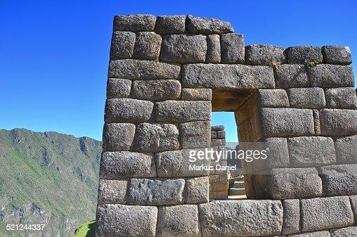 Inca Building Materials : Inca ruins in machu picchu peru stock photo getty images
