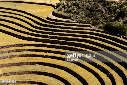 Incan archaeological site of Moray : Stock Photo