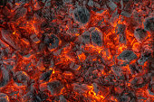 incandescent orange and red embers texture