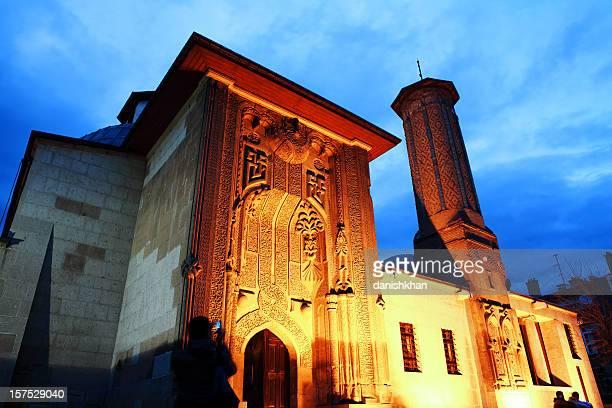 Ince Minare Medrese und Seminary der schlanken Minarett in der Dämmerung