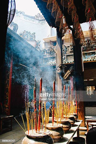 Incense At Buddhist Temple