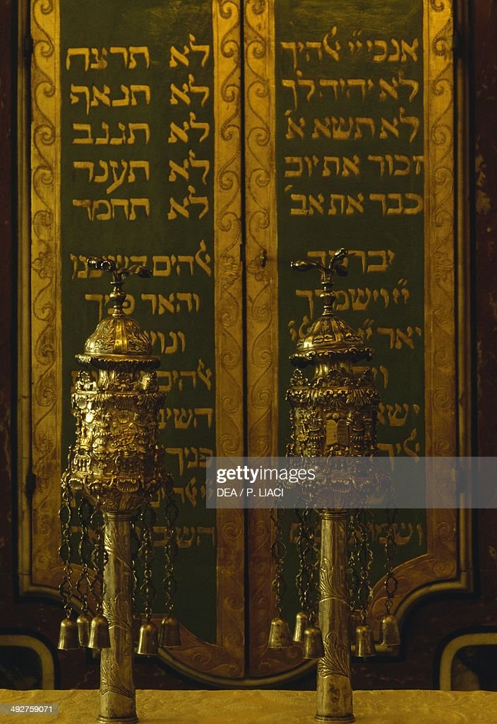 Incense burners for the Torah Ferrara Synagogue EmiliaRomagna Italy