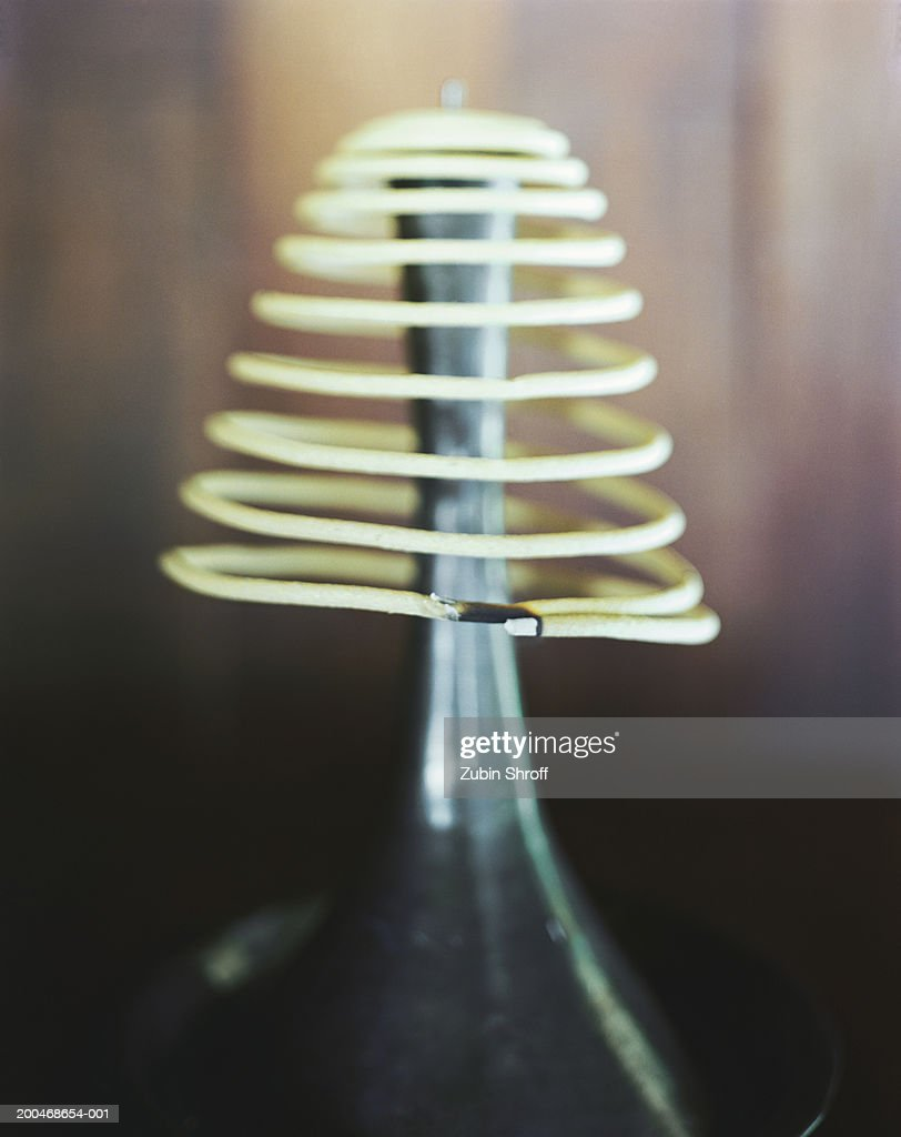 Incense coil, close-up : Stock Photo