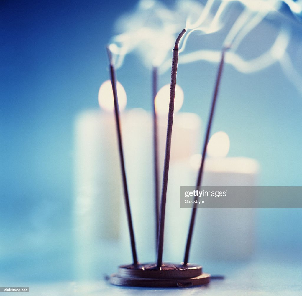 Incense sticks and candles