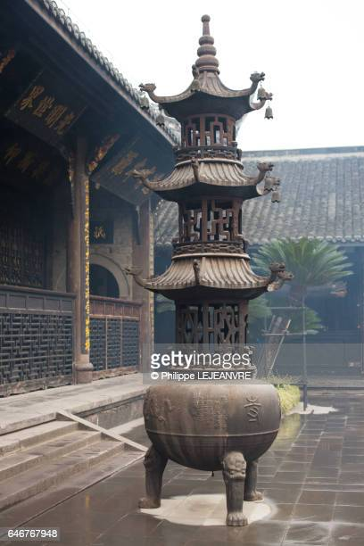 Incense tower in a buddhist temple in China