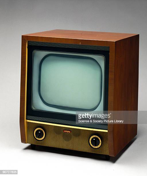 14 inch 405 line band I and III converter television receiver in wood finish cabinet By the early 1950s there were over four million television sets...