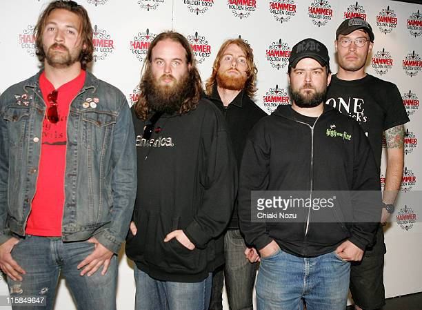 3 Inches Of Blood during The Metal Hammer Golden Gods Awards 2005 Arrivals Press Room at The Astoria in London Great Britain