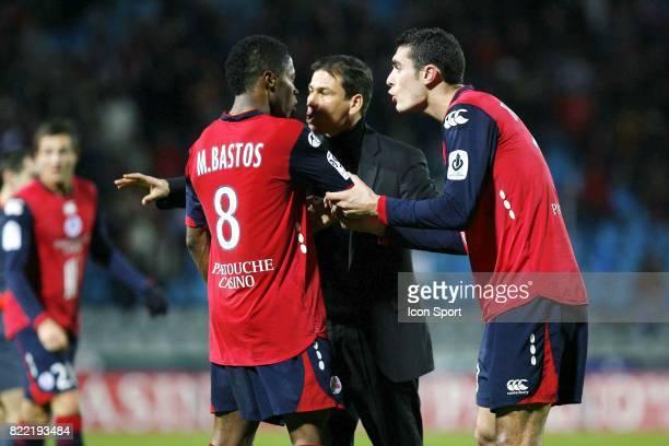 Incident en fin de match Rudi GARCIA / Michel BASTOS / Nicolas FAUVERGUE Lille / Saint Etienne 14e journee de Ligue 1