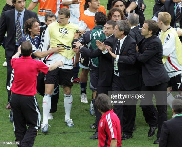 Incident Gabriel HEINZE / Oliver BIERHOFF Allemagne / Argentine 1/4 Finale Coupe du Monde 2006