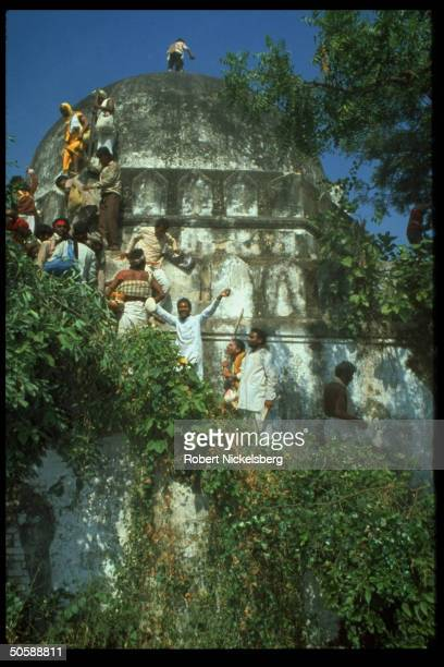 Incited Hindus rioting re razing Babri Masjid erecting Hindu temple to godking Rama