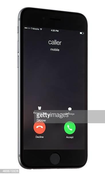Llamada entrantes en un Apple iPhone 6