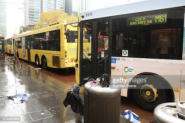 Increased traffic is seen due to the wild weather on April 21 2015 in Sydney Australia A second day of damaging winds and heavy rain have hit the New...