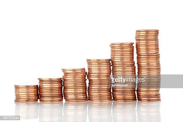 Increasing Stacks of American Pennies